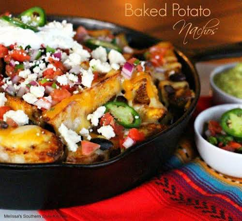 "Baked Potato Nachos ""Nachos in any form are okay in my cookbook,..."