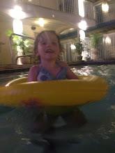 Photo: Tobie in pool last weekend of June 2013