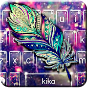 Galaxy Feather Keyboard Theme