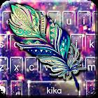 Galaxy Feather Tema de teclado icon