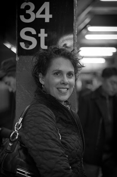 Photo: Tammy in the subway station at 34th St station.