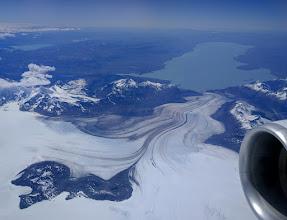 Photo: The Viedma glacier, which flows east into Argentina's Glacier National Park (Parque Nacional de Los Glaciares)