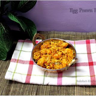 Egg Prawns Burji | Scrambled Eggs With Prawns