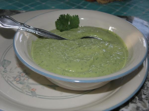 Avocado Cilantro Soup Recipe