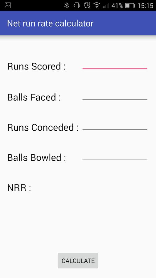 Calculate Net Run Rate (NRR) in Tournament