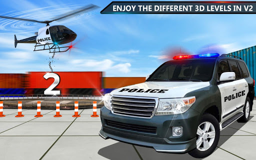 Police Jeep Spooky Stunt Parking 3D 2 apkpoly screenshots 6