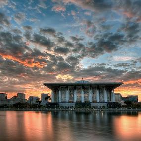 Masjid Sultan Mizan Putrajaya in Sunrise by Sham ClickAddict - Landscapes Sunsets & Sunrises
