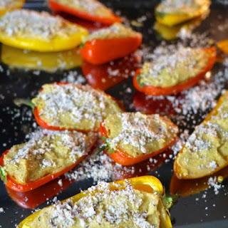 """Cheesy"" Stuffed Mini Bell Peppers (Dairy-Free)"