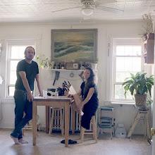 Photo: title: Dave Marcrander + Jenny Belton, Hudson, New York date: 2015 relationship: friends, art, met through Joe Wardwell years known:Dave: 10-15, Jenny 0-5