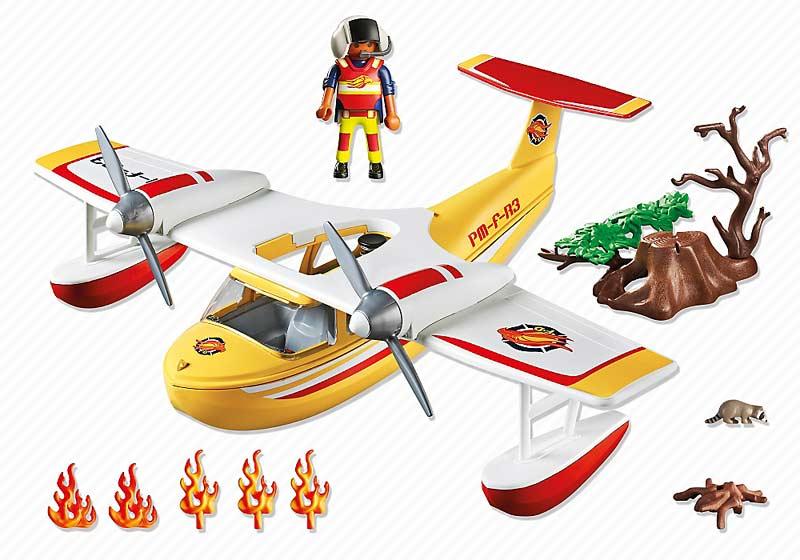 Contenido Real de Playmobil® 5560 Hidroavión de Extinción de Incendios