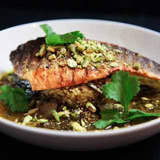 Super Quick and Easy Tangy Lemon and Coriander Sea Bass.