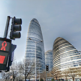 Sky curves by Francisco Little - Instagram & Mobile Android ( beijing, architecture )