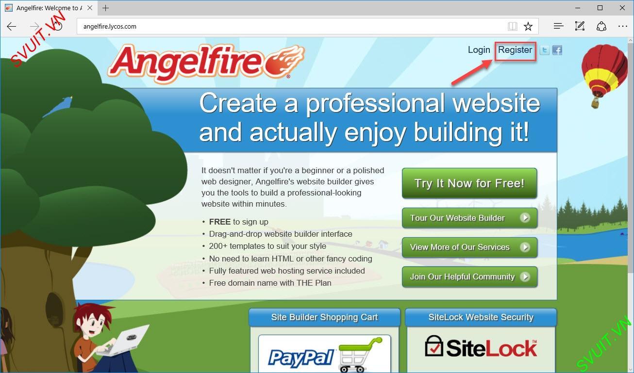 Backlink on angelfire.com (2)