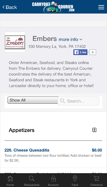 Carryout Courier-Food Delivery- screenshot