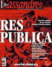 Photo: © Olivier Perrot Couverture Cassandre 67 www.horschamp.org