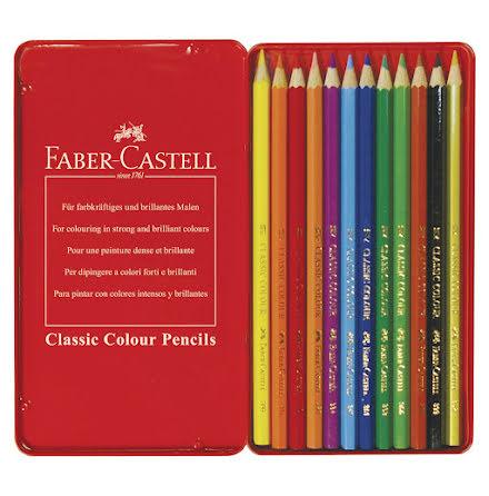 Färgpenna Faber Classic 12/fp