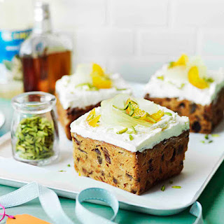 Middle Eastern fruit cakes with orange-blossom meringue.