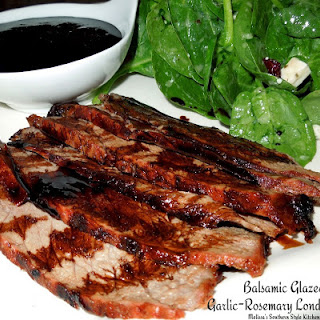 Balsamic Glazed Garlic Rosemary London Broil