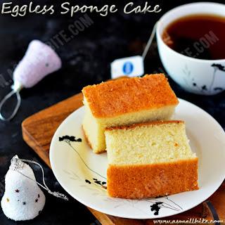 Eggless Sponge Cake Recipe | Eggless Vanilla Cake.