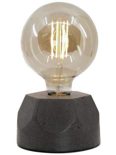 lampe en béton noir design héxagone création  fait-main en atelier français par la créatrice Junny