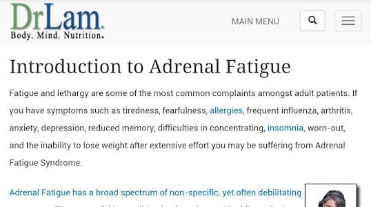 Adrenal Fatigue screenshot 2