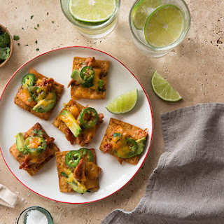 Chicken Avocado Bites with Stacy's® Fire Roasted Jalapeño Pita Chips.