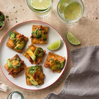 Chicken Avocado Bites with Stacy's® Fire Roasted Jalapeño Pita Chips.