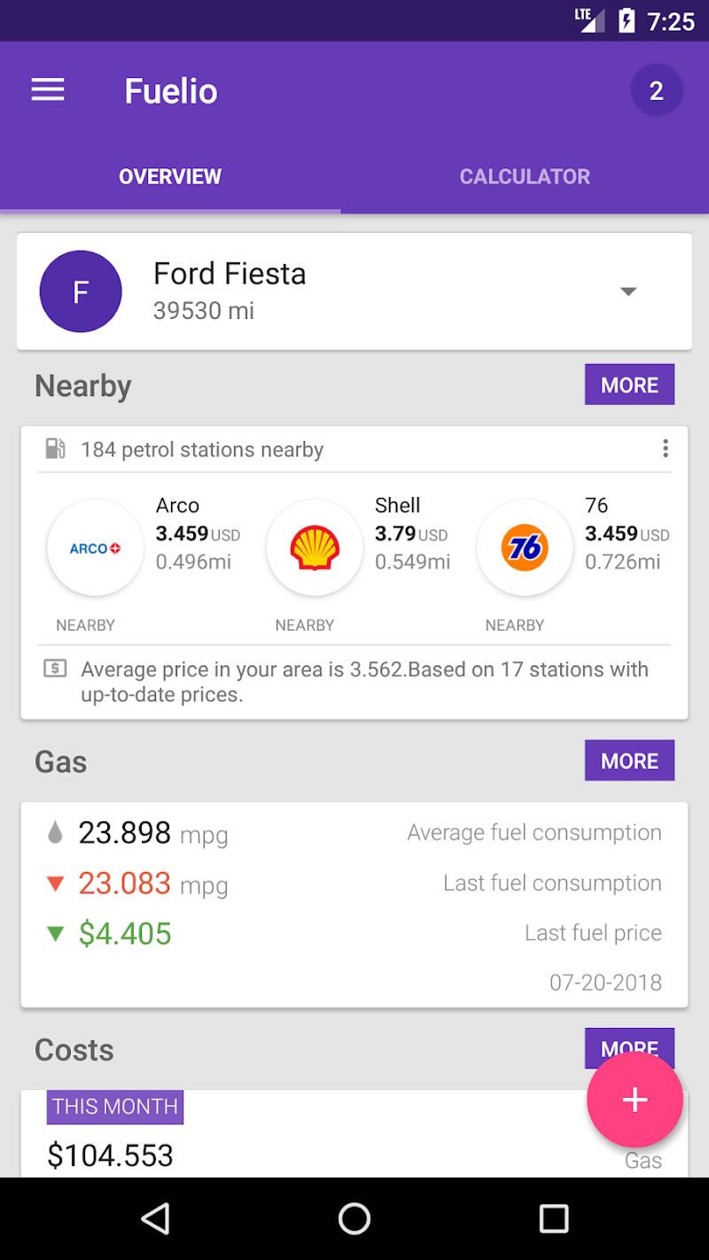 Fuelio: Gas log & costs Screenshot 2