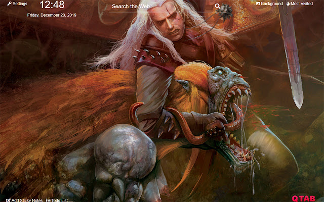 The Witcher Wallpapers The Witcher New Tab HD
