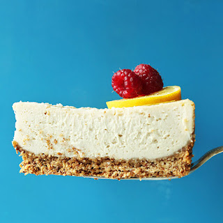 Easy Baked Cheesecake (Vegan + GF).