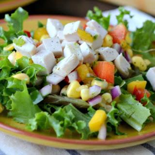 Gluten Free Dairy Free Chicken and Mango Salad Topper.