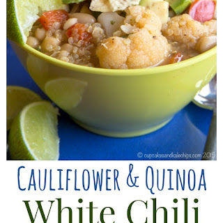 Cauliflower and Quinoa Vegan White Chili.