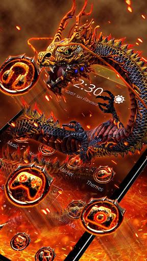 Red Yellow Fire Dragon Theme screenshots 3