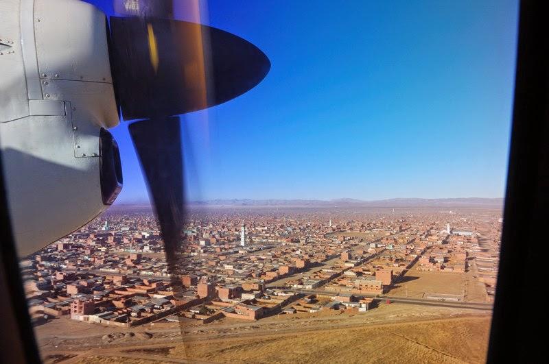 Photo: odlet z La Pazu - pod nama chudy predmesti El Alto