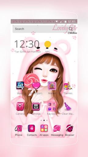ピンクのラブリーガールのテーマ