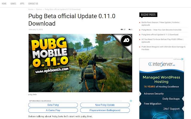 PUBG BETA 0.11.0