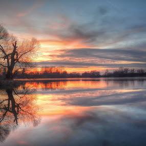 red sunset  by František Valčík - Landscapes Sunsets & Sunrises