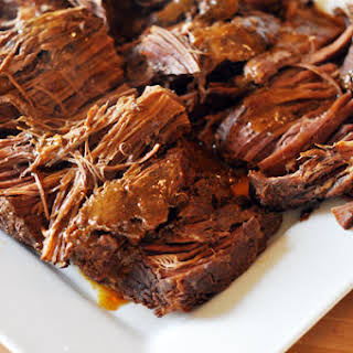 Slow Cooker Sweet and Spicy BBQ Pot Roast.