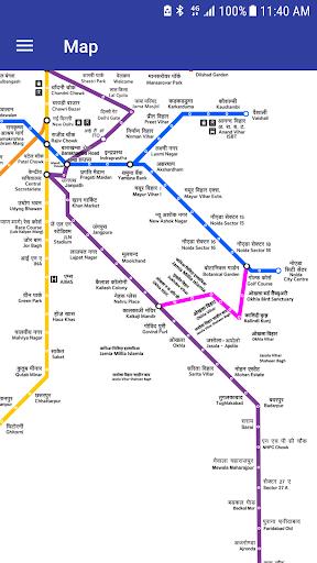 Download Delhi Metro Navigator - 2019 Fare,Route,Map,Noida on PC