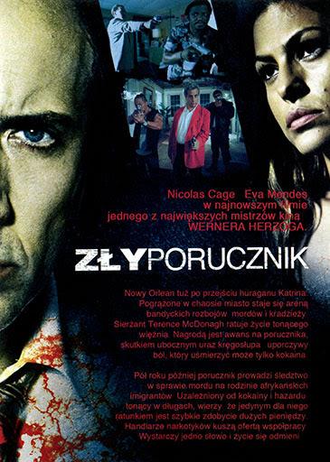 Tył ulotki filmu 'Zły Porucznik'