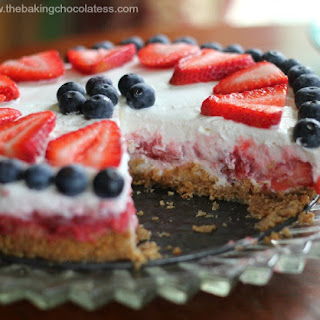 Star Spangled Yogurt Pie {Ice Box or Freezer}