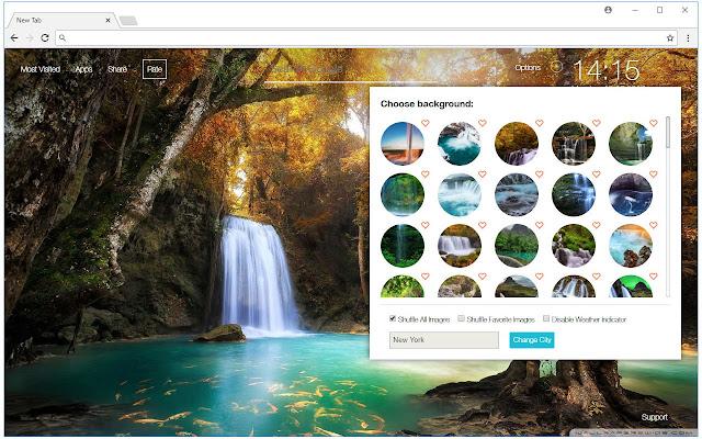 Waterfall Wallpapers Hd Custom Nature New Tab