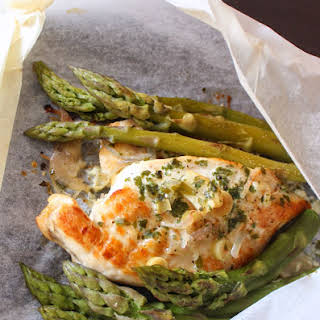 Chicken Breasts & Asparagus Foil Packets.