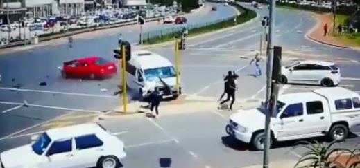 WATCH   Woman killed after taxi ploughs into car outside KZN mall