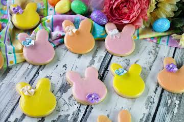 Ole Fashioned Iced Easter Bunny Cookies