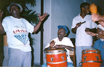 Photo: Néné, Chan, Monguito - janvier 1993 - Casa del Caribe