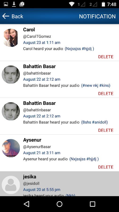 VoiceEm, Share Your Voice- screenshot