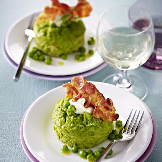 Baked Pea Pudding with Bacon.