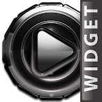 Poweramp widget - Silver Glow Icon