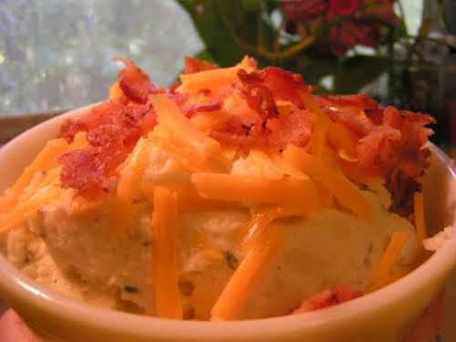 "Cheesy Cauliflower Mash ""This was FANTASTIC! A keeper for sure. Wowza, the..."